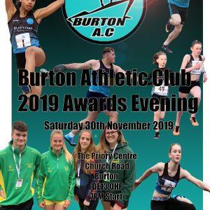 2019 Burton Athletic Club Awards Evening Graphic